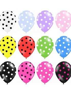 Balony w kropki groszki do każdej dekoracji 30 cm średnicy