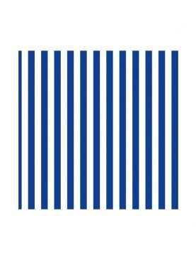Serwetki składane paski niebieskie w paski 20 sztuk