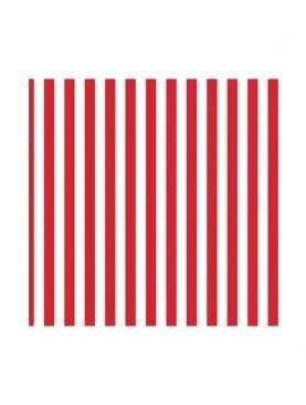 Serwetki składane paski czerwone w paski 20 sztuk
