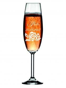 Kieliszek z grawerem grawerowane kieliszki do szampana WZÓR 11