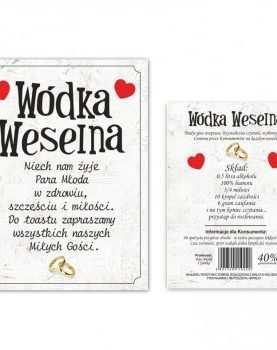 Naklejka dwustronna etykieta samoprzylepna na alkohol 50 szt WZÓR 12