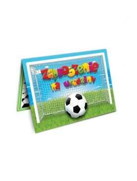 Zaproszenie na urodzinki urodziny dla dzieci Wzór Piłkarz
