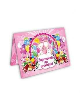 Zaproszenie na urodzinki urodziny dla dzieci Wzór Torcik