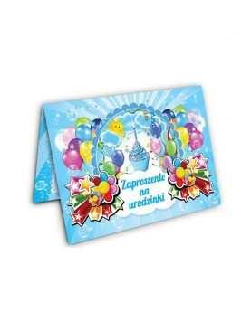 Zaproszenie na urodzinki urodziny dla dzieci Wzór torcik 2