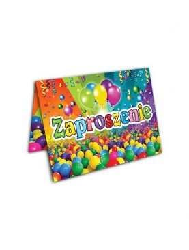 Zaproszenie na urodzinki urodziny dla dzieci Wzór piłeczki