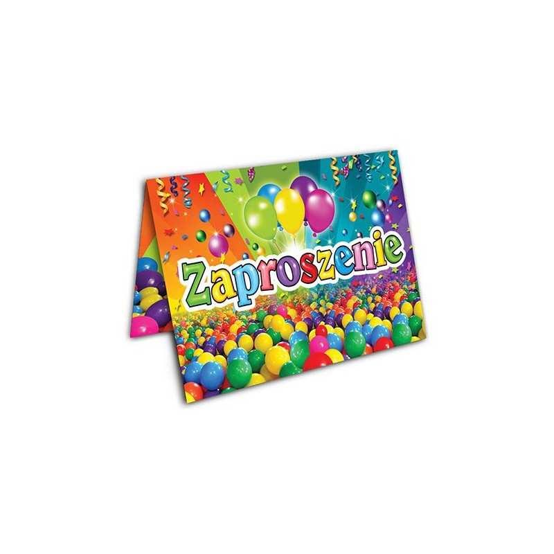 Zaproszenie Na Urodzinki Urodziny Dla Dzieci Wzór Piłeczki Dekorak