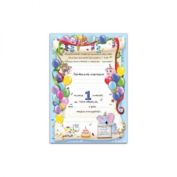 Zaproszenie na urodzinki urodziny dla dzieci Wzór biedronka