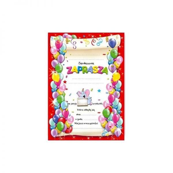 Zaproszenie na roczek urodziny dla dzieci Wzór błękitny