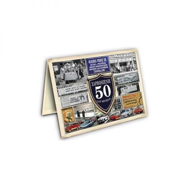 Zaproszenie na urodziny 50 tka Szampan