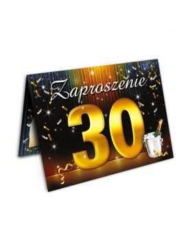 Zaproszenie na urodziny 30 tka Szampan
