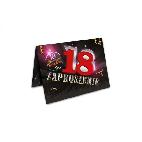 Zaproszenie na urodziny 18 stka wzór 4