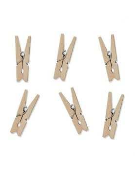 Klamerki spinacze drewniane ozdobe do prezentów 20 szt