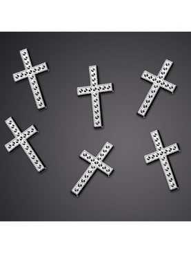 Aplikacja krzyżyk srebrny 25 szt