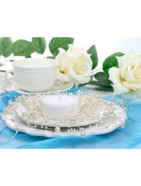 Girlanda perełkowa girlandy perłowe 5 szt 130 cm kolor kremowy