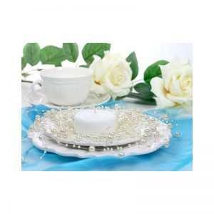 Girlanda perełkowa girlandy perłowe 5 szt 130 cm kolor biały
