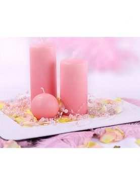 Girlanda perełkowa girlandy perłowe 5 szt 130 cm kolor jasny róż