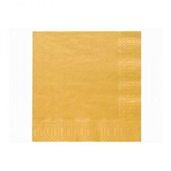 Serwetki składane złote i srebrne trójwarstwowe