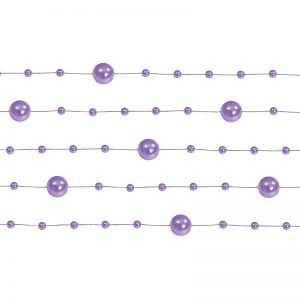 Girlanda perełkowa girlandy perłowe 5 szt 130 cm kolor ciemny róż