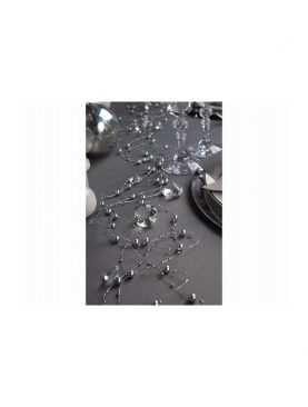 Girlanda perełkowa girlandy perłowe 5 szt 130 cm kolor srebrny