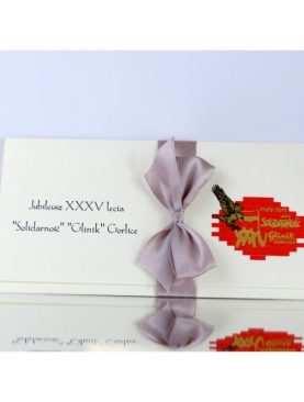 Zaproszenie jubileusz firmy firmowe zaproszenia
