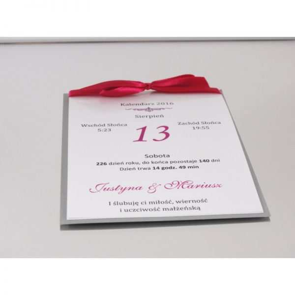 Zaproszenie ślubne zaproszenia na wesele Wzór 9