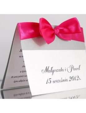 Zaproszenie ślubne zaproszenia na wesele Wzór 14