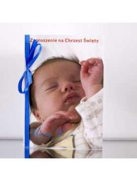 Zaproszenie na Chrzest Chrzciny PERSONALIZACJA Wzór 11