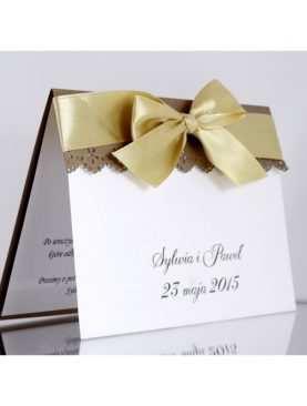 Zaproszenie ślubne zaproszenia na wesele Wzór 21