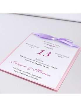 Zaproszenie ślubne zaproszenia na wesele Wzór 32 Kartka z kalendarza