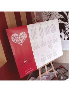 Plan stołów rozmieszczenie gości 100 x 70 cm Wzór 5