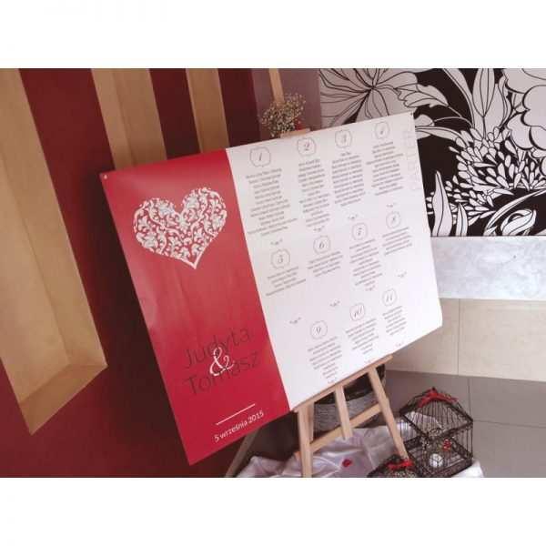 Plan stołów rozmieszczenie gości 100 x 70 cm Wzór 3