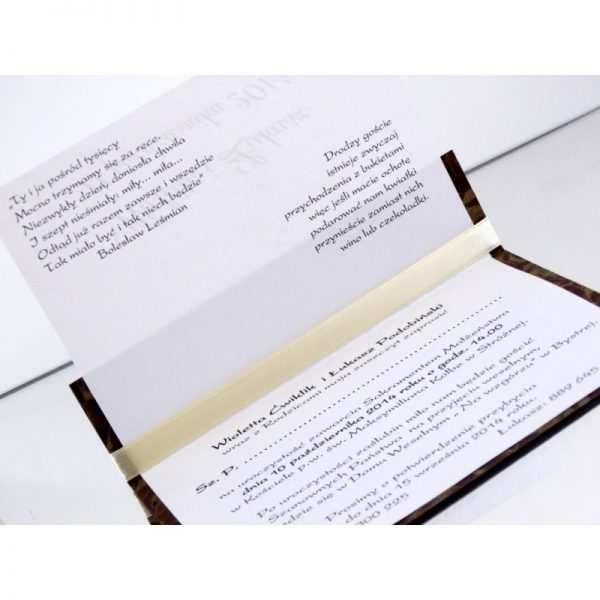 Zaproszenie ślubne zaproszenia na wesele Wzór 48