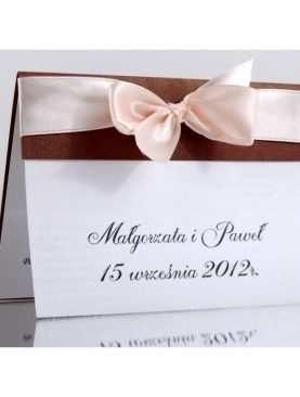 Zaproszenie ślubne zaproszenia na wesele Wzór 51