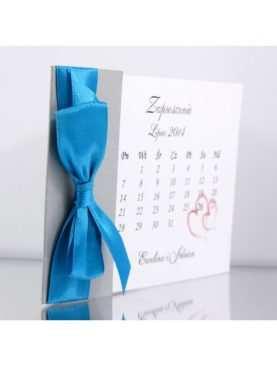 Zaproszenie ślubne zaproszenia na wesele Wzór 54 Kalendarz