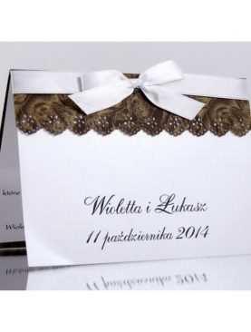 Zaproszenie ślubne zaproszenia na wesele Wzór 67