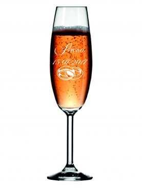 Kieliszek z grawerem grawerowane kieliszki do szampana WZÓR 2