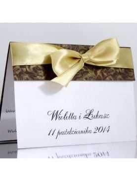 Zaproszenie ślubne zaproszenia na wesele Wzór 104