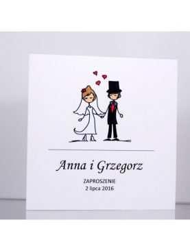 Zaproszenie ślubne zaproszenia na wesele Wzór 122 Wzory Bueno