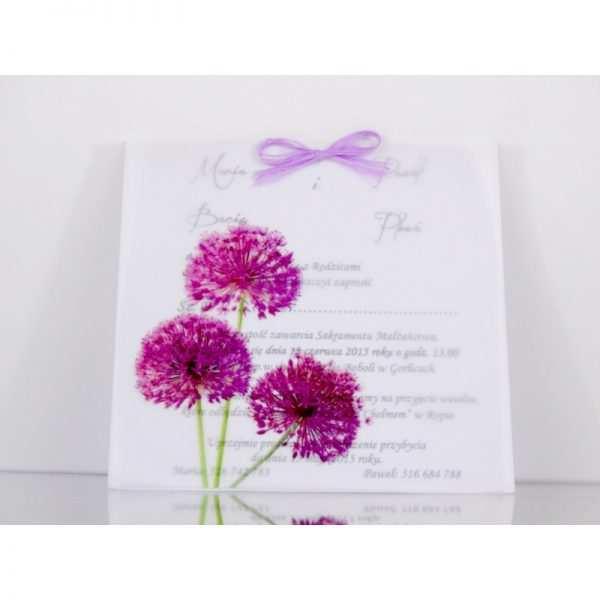 Zaproszenie ślubne zaproszenia na wesele Wzór 123