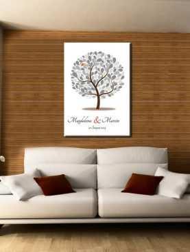 Drzewo plakat księga gości na płótnie nadruk wzór 3