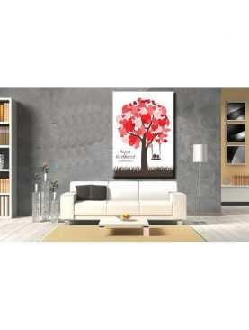 Drzewo plakat księga gości na płótnie nadruk wzór 4