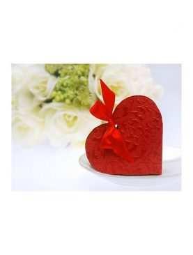 Serduszka czerwone pudeleczka dla gości