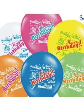 Balony pastelowe Happy Birthday