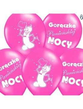 Balony na Wieczór Panieński Gorączka Panieńskiej Nocy różowe