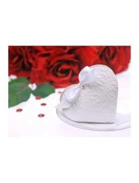 Serduszka białe pudeleczka dla gości