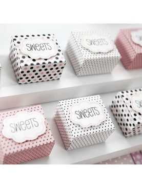Pudełeczka dla gości lub na candy bar z chmurką