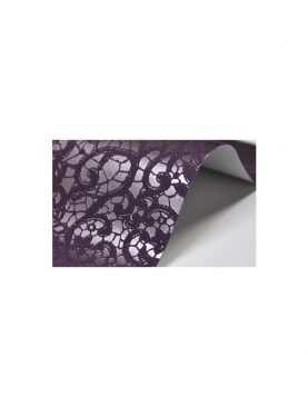 Papier ozdobny koronka glamour fioletowa