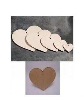 Serca drewniane DECOUPAGE 7,5 cm SERCE sklejka 3mm
