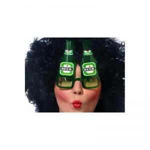 Okulary butelki piwa zielone piwo
