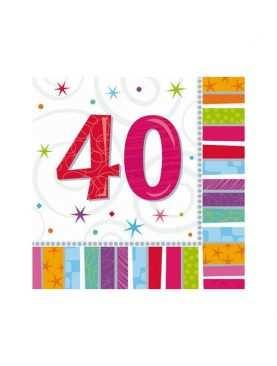 Serwetki urodzinowe liczby 40
